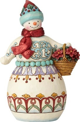 Jim Shore 6001421 Wonderland Snowman Figurine
