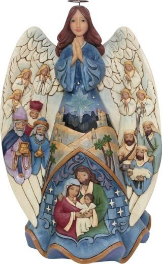 Jim Shore 6001481 Lighted Nativity Angel Musical Figurine