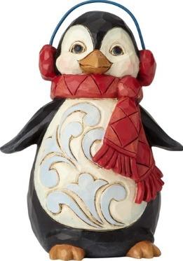 Jim Shore 6001499 Penguin Ear Muffs Figurine