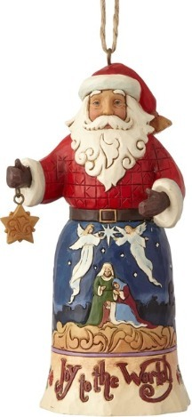 Jim Shore 6001504 Joy To The World Santa Ornament