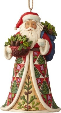 Jim Shore 6001506 Pinecone Santa Ornament