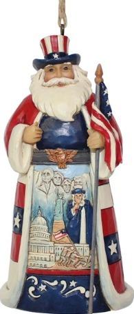 Jim Shore 6001508 American Santa Ornament