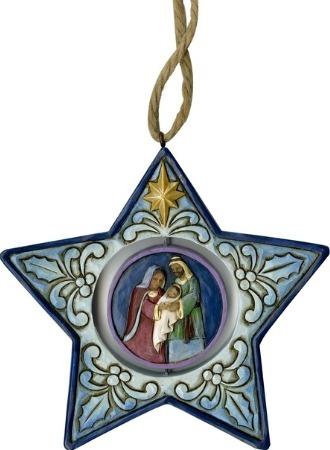 Jim Shore 6001521 Star Shaped Nativity Ornament