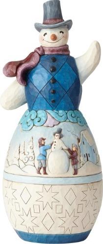 Jim Shore 6001523 Snowman Winter Scene Statue