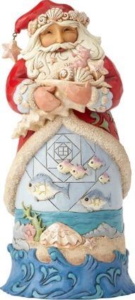Jim Shore 6001524 Coastal Santa & Fish Figurine