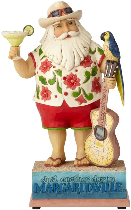 Jim Shore Margaritaville 6001535 Musical I.C. Santa