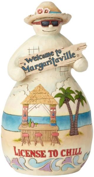 Jim Shore Margaritaville 6001537 Snowman with Tiki