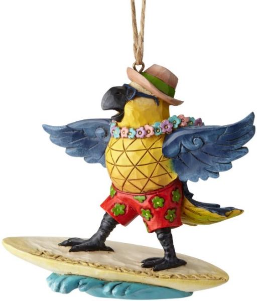 Jim Shore Margaritaville 6001538 Parrot Surfing