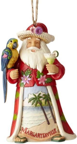 Jim Shore Margaritaville 6001539 Santa with Parrot