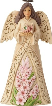 Jim Shore 6001569 Monthly Angel August Figurine