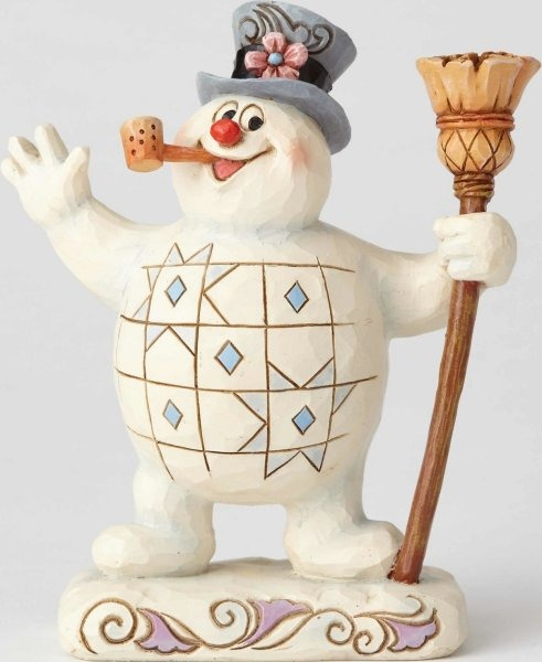 Jim Shore Frosty 6001578 Frosty With Broom