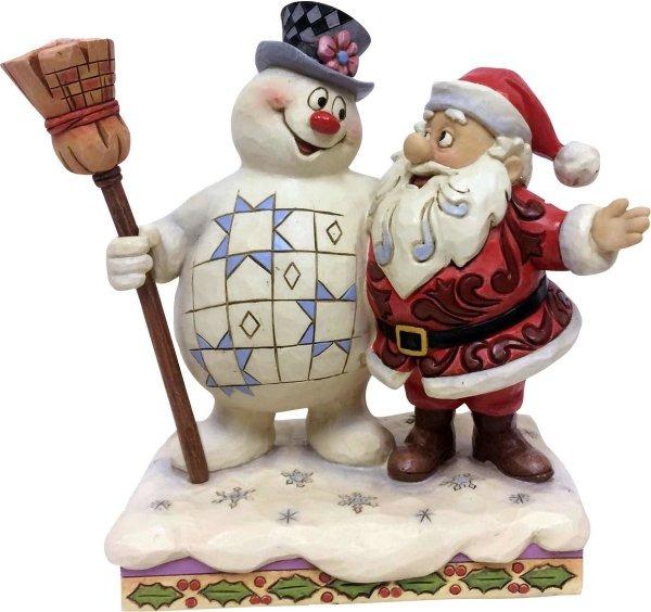 Jim Shore Frosty 6001584 Frosty and Santa