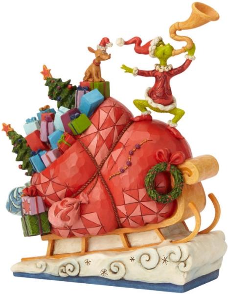 Jim Shore Dr Seuss 6002069 Grinch on Sleigh
