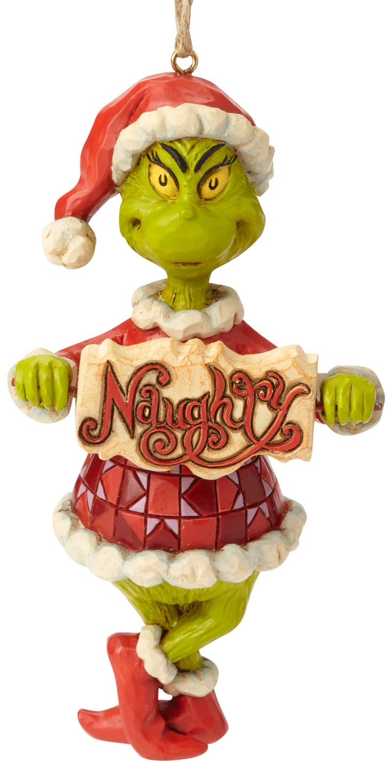 Jim Shore Dr Seuss 6002073 Naughty Nice Grinch Ornament