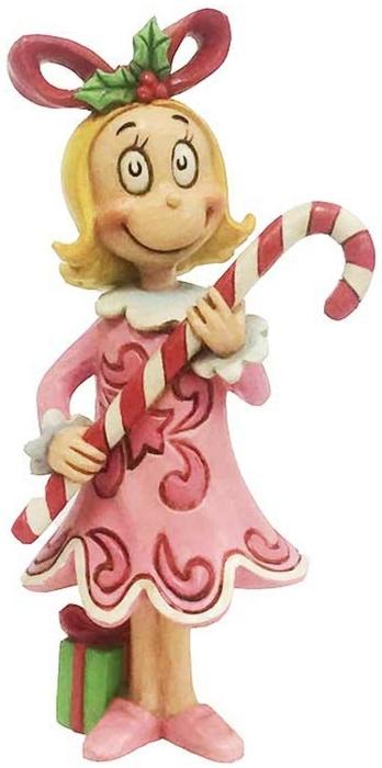 Jim Shore Dr Seuss 6002076 Cindy Lou with Candy Cane