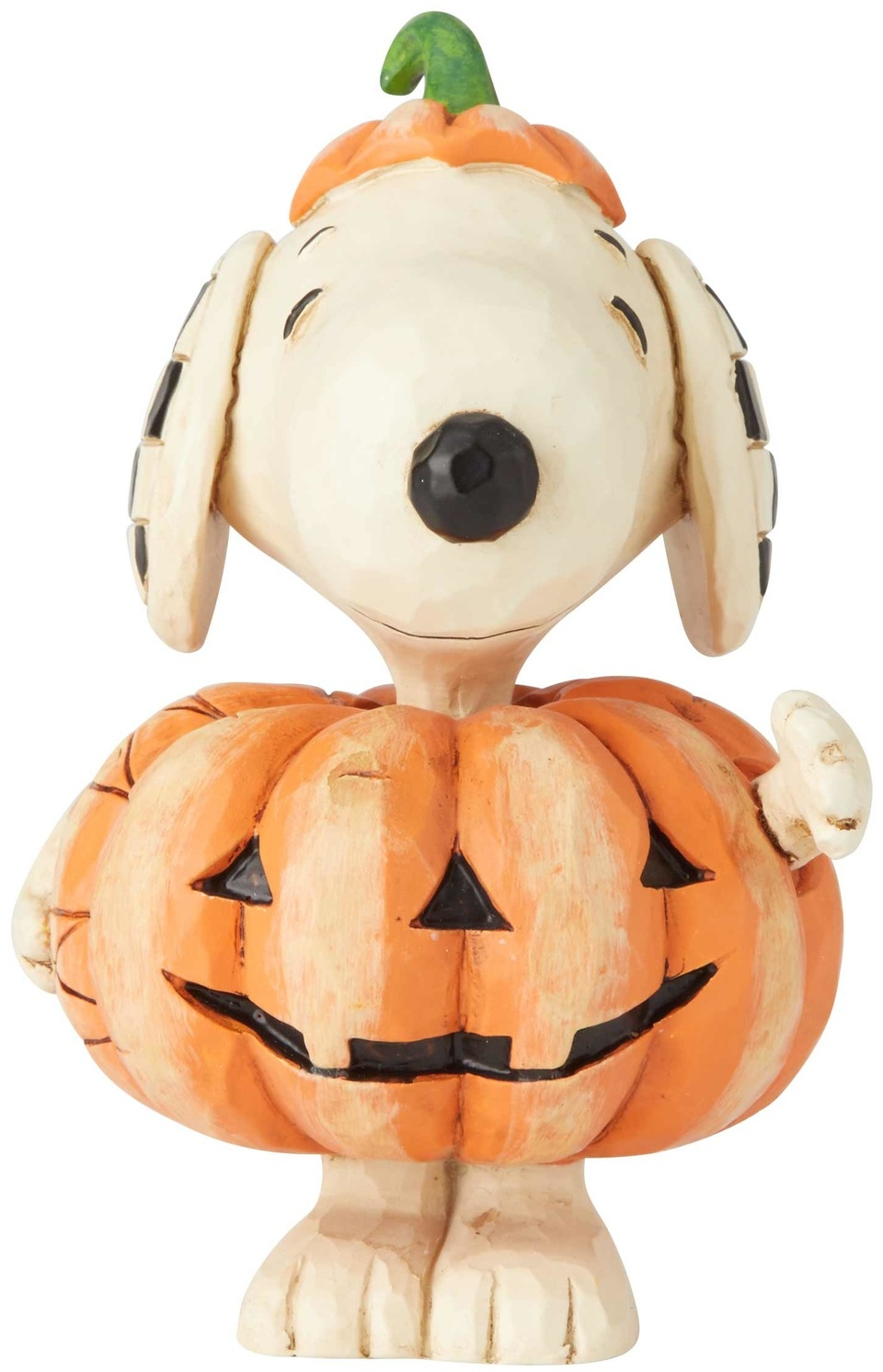 Jim Shore Peanuts 6002777 Mini Snoopy Pumpkin