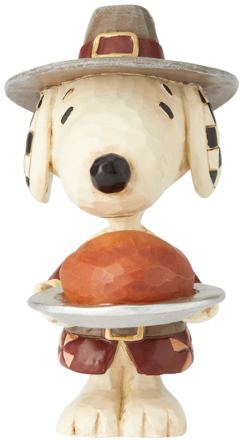 Jim Shore Peanuts 6002779N Mini Snoopy Pilgrim