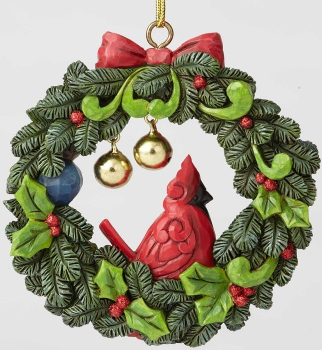 Jim Shore 6002801 Cardinal in Wreath Ornament