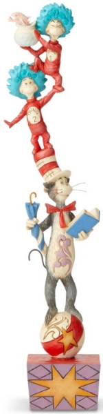 Jim Shore Dr Seuss 6002907 Cat In The Hat Stacked