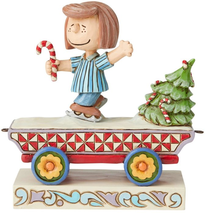 Jim Shore Peanuts 6003027 Peppermint Patty Train