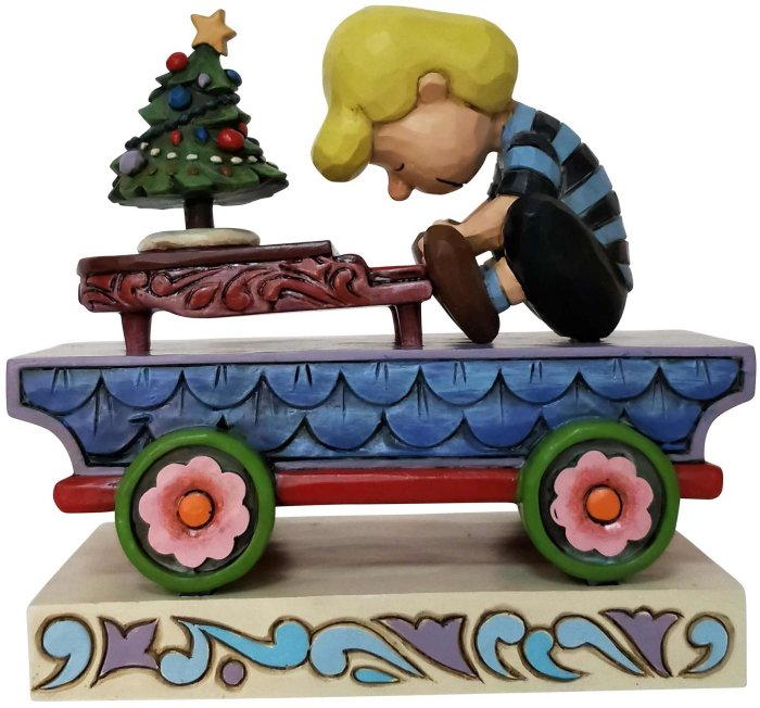 Jim Shore Peanuts 6003028N Schroeder Train