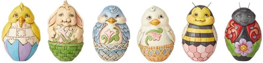 Jim Shore 6003620 Mini Eggs 6 Assorted Wi