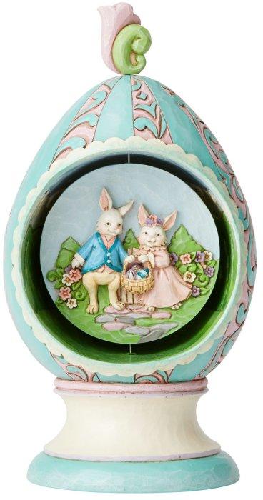 Jim Shore 6003625 Rotator Easter Egg Figurine