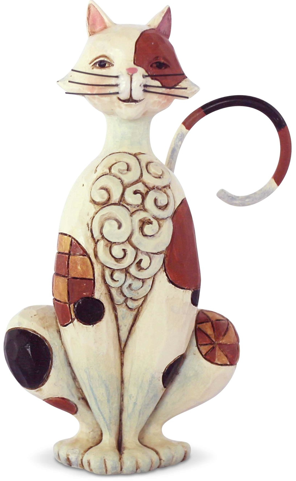 Jim Shore 6003982 Spotted Calico Cat Mini Figurine