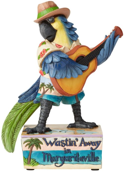 Jim Shore Margaritaville 6003993N Musical I.C. Parrot Play
