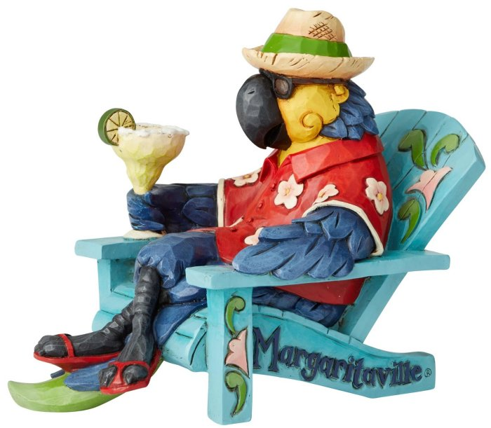 Jim Shore Margaritaville 6003994 Parrot In Beach Chair