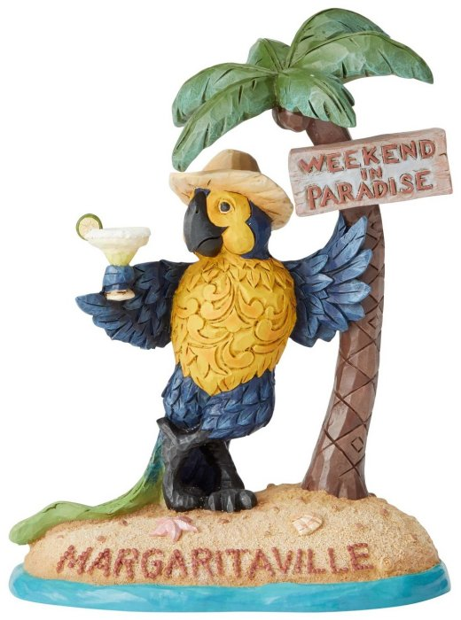 Jim Shore Margaritaville 6004009 Parrot Under Palm Tree