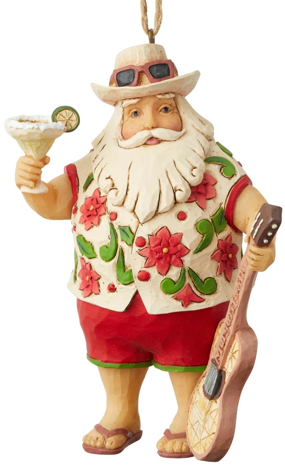 Jim Shore Margaritaville 6004010N Santa In Shorts