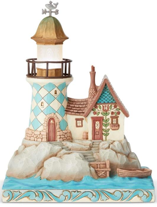 Jim Shore 6004029 Lighted Coastal Lighthouse Figurine