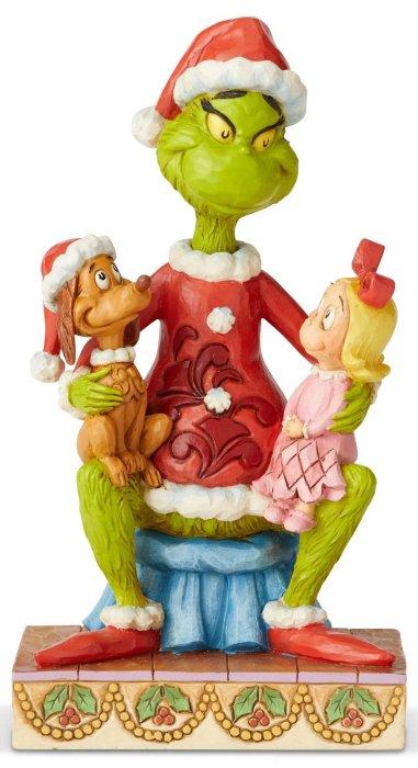Jim Shore Grinch 6004064 Grinch Cindy & Max Figurine