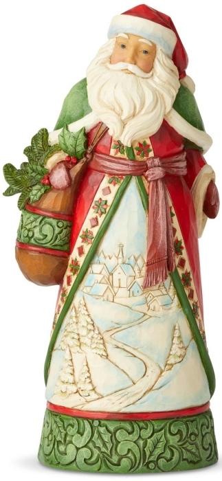 Jim Shore 6004134 Santa Winter Scene Figurine