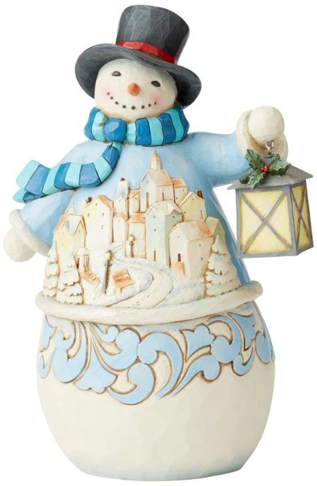 Jim Shore 6004141 Snowman Village Scene Figurine