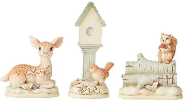 Jim Shore 6004169 Woodland 3 Animal Figurines