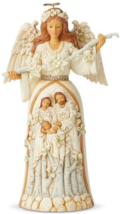 Jim Shore 6004173 White Woodland Nativity Angel Figurine