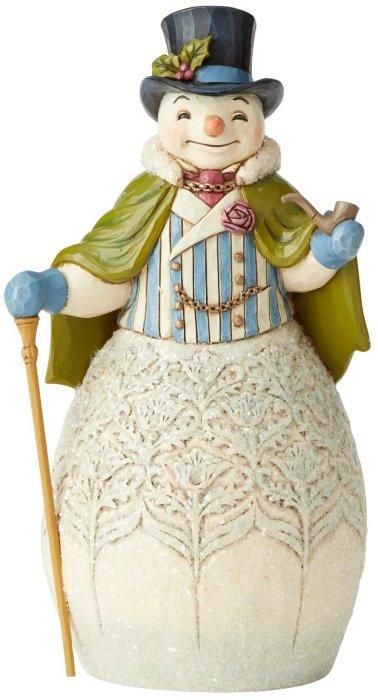 Jim Shore 6004183 Victorian Snowman Cape Figurine