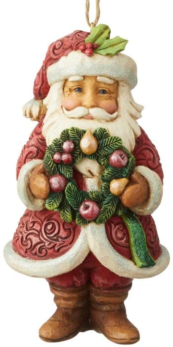 Jim Shore 6004193 Wonderland Santa Wreath Ornament