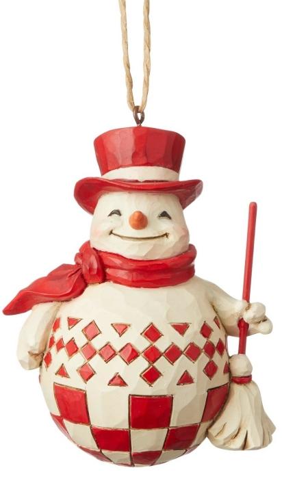 Jim Shore 6004232 Nordic Noel Snowman Ornament