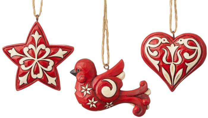 Jim Shore 6004233 Set of 3 Nordic Noel Ornament