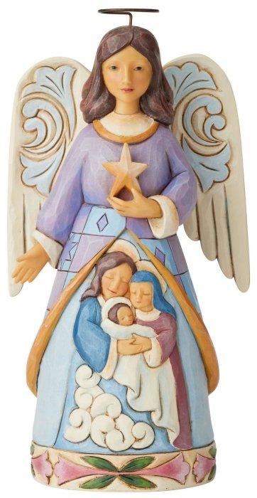 Jim Shore 6004245 Angel Wtih Holy Family Figurine