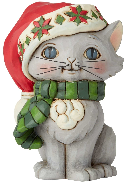 Jim Shore 6004295 Christmas Kitten Mini Figurine