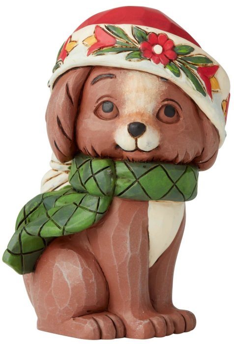 Jim Shore 6004296 Christmas Puppy Mini Figurine