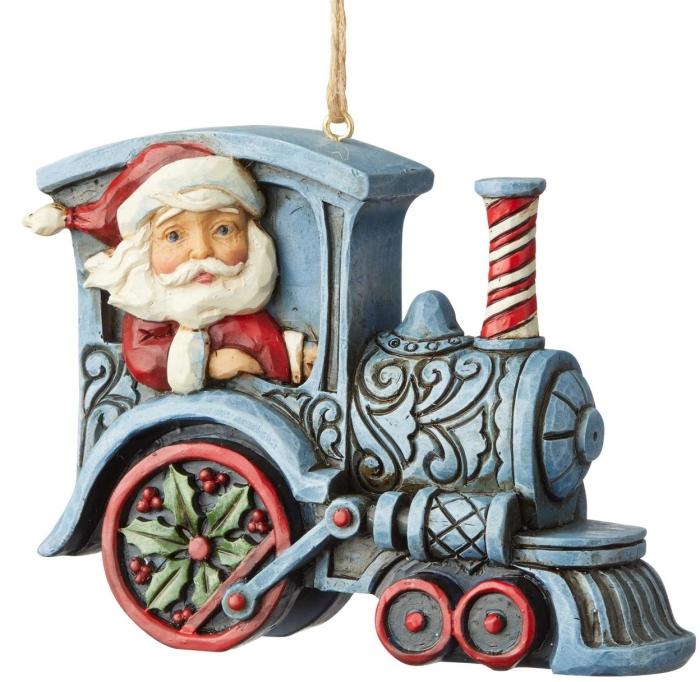 Jim Shore 6004311 Santa In Train Engine Ornament