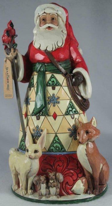Jim Shore 6005246 Christmas For All Santa Figurine w Animals