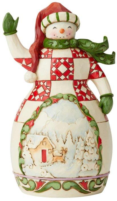 Jim Shore 6005251 Snowman with Scene Figurine