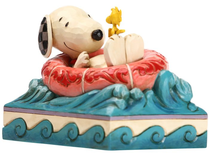 Jim Shore Peanuts 6005942 Snoopy and Woodstock in Floatie Figurine