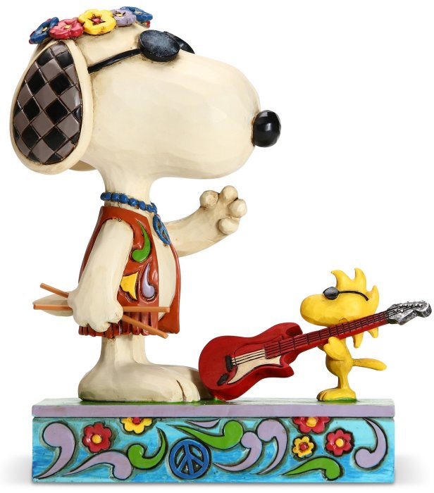 Jim Shore Peanuts 6005943 Snoopy and Woodstock Concert Figurine